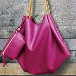 Purple napa leather bag by janniflower
