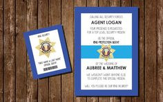 Printable Ring Bearer Invitation / Ring Security by PennellPieces