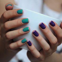 Люблю вот так использовать два цвета в маникюре, но фотографировать две руки терпеть не могу. Дилемма :) #butterlondon #slapper и #opi…