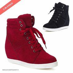 SKU: NAUUI1XDTG05V11 Color: Black, Red Size: 35, 36, 37, 38, 39 Category: Shoes > Sneakers Price: US $35.25 | PKR 3749… #Vivoren #Fashion