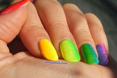 WOW Polish: Rainbow Gradient Nail Art: Somewhere over the rainbow, way up high!