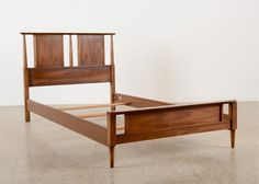 Mid-Century Modern Bed Frame, Dixie Furniture