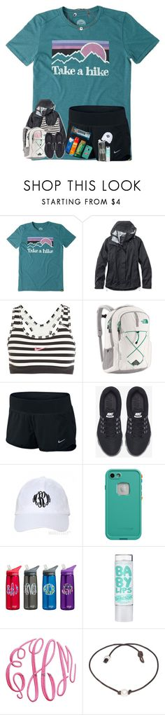 """hiking contest (:"" by arieannahicks on Polyvore featuring Life is good, L.L.Bean, NIKE, The North Face and LifeProof"