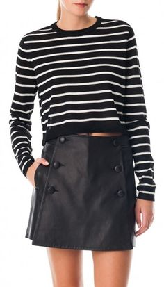 Stripe sweater.