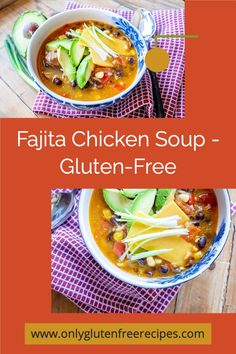 When fresh tomatoes and bell peppers are abundant, keep it simple with this most delicious gluten-free fajita chicken soup #soups #chickensoup #mexican #glutenfree #onlyglutenfreerecipes