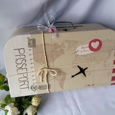 """Urne de mariage valise grand modèle """"voyage"""""""