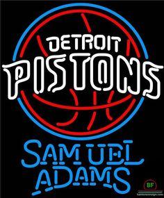 Samuel Adams Detroit Pistons Neon Sign NBA Teams Neon Light