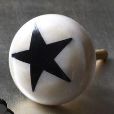 Round Bone Star Door Knob - Door Knobs, Handles & Hooks - Treat Your Home - Home Accessories