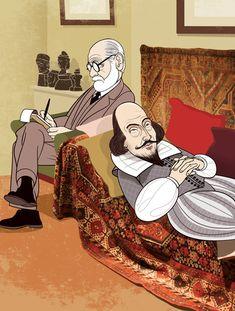 Freud analizando a Shakespeare
