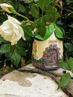 Outdoor Fairy House with Ladybugs for Gnomes, Pixies, Faeries and Elves, Fairy Garden Supply You are in the right place about Gardening Supplies Here we offer you the most beautiful pictures about the Fairy Garden Supplies, Gardening Supplies, Garden Dining Set, Tree Pruning, Garden Maintenance, Garden Care, Miniature Fairy Gardens, Fairy Houses, Ladybugs