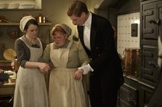 Downton Abbey - Daisy Mason and Mrs. Patmore with Alfred Nugent