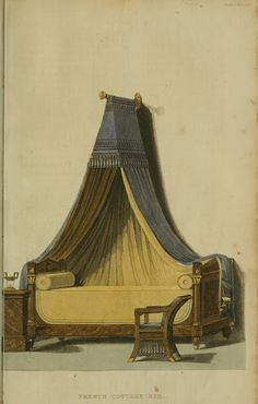 EKDuncan - My Fanciful Muse: Regency Furniture 1809 Ackermann's Repository Series 1 Vintage Furniture Design, Regency Furniture, Interior Rendering, Interior Design, Antique Beds, Georgian Era, French Cottage, Furniture Companies, Decorative Items