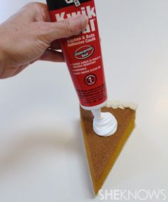 Allow your slice of pie to dry for three to five days (depends on how thick you applied your caulk). Postage will run anywhere from $2  to $3, depending on the size and weight of your finished slice