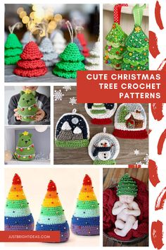 So many fabulous Christmas tree crochet patterns in this collection - they're super cute and the perfect way to decorate for the Holidays