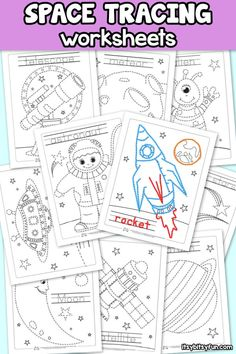 10 Free Space Tracing Worksheets For Kids