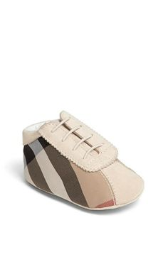 Burberry 'Bosco' Crib Shoe (Baby) available at #Nordstrom