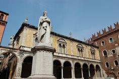 Pizza dei Signori, or also known as Piazza Dante due to this great statue of Dante himself!