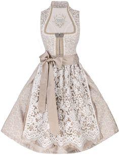 Hochzeitsdirndl midi Helena, weiß-beige, Tramontana Brautdirndl Beige, Women Wear, Ladies Wear, Cosplay Costumes, Dressing, Vogue, Formal Dresses, Lady, How To Wear