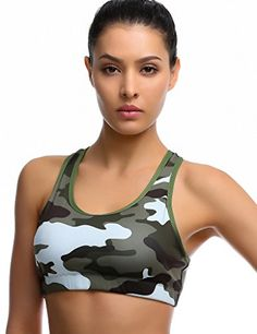 Medium Impact Sport Bra LArmy ** Find similar Yoga products by clicking the VISIT button Womens Workout Outfits, Sporty Outfits, Yoga Outfits, Rave Outfits, Fitness Wear Women, Estilo Fitness, Yoga Bra, Women's Sports Bras, Active Wear For Women