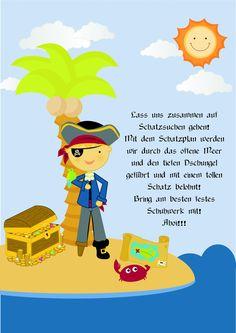 einladung kindergeburtstag schwimmen basteln | kindergeburtstag, Einladung