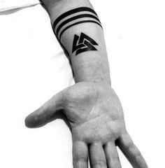 Inner Forearm Tattoo, Forearm Tattoos, Finger Tattoos, Arm Band Tattoo, I Tattoo, Dad Tattoos, Future Tattoos, Tattoos For Guys, Geometric Wolf Tattoo