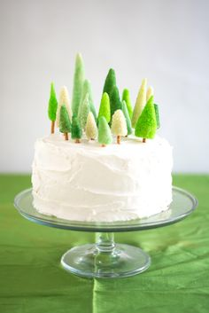 All you need is marzipan, green sanding sugar or green sprinkles and pretzel sticks to create this...