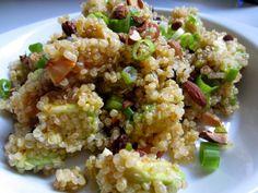 Seasoned to Taste - Superfood! quinoa salad with avocado, almonds, scallions, fruit and a lemon-cumin-paprika vinaigrette.