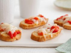 Sweet Pepper Crostini: This easy open-face sandwich is great for an easy appetizer or a quick snack.
