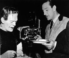 BK's birthday on the set of The Son of Frankenstein