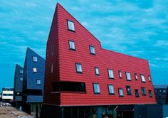 Roof tiles as wall cladding courtesy of Wienerberger in Europe - we love this design trend.