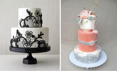 {Wedding Trends} : Lace Cakes - Belle the Magazine . The Wedding Blog For The Sophisticated Bride