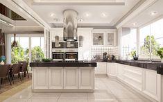 Projekt domu Willa Parkowa 4 165,77 m2 - koszt budowy - EXTRADOM Modern Bungalow House, Modern House Plans, House Outside Design, House Design, Cute House, Kitchen Colors, Home Fashion, Home Kitchens, New Homes