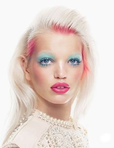 Daphne Groeneveld is the beauty beneficiary of the Yadim treatment in 'Mix Master' for British Vogue's November issue.