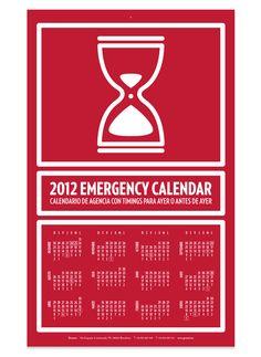Emergency calendar 2012 Gruetzi - Creatividad y diseño del regalo Navidad para clientes