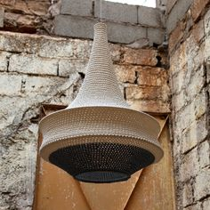 Stylish designer pendant lights crocheted by artisan women in Marrakech, Morocco. Made to order in a wide range of models, sizes and colours to suit all interiors. Shipped worldwide with DHL Express.