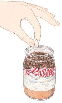 If you decide on a winter wedding... DIY peppermint hot chocolate mix in a mason jar wedding favors.