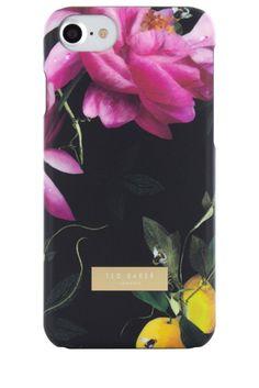 81a1aec50 Ted Baker Case for iPhone 7 Citrus Bloom - Black  tedbaker  cistrusbloom  Apple Iphone