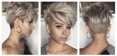 Have no new ideas about pixie hair styling? Find out the latest and trendy pixie hairstyles and haircuts in Cute Hairstyles For Short Hair, Pixie Hairstyles, Short Hair Cuts, Short Hair Styles, Cut My Hair, Grey Hair, About Hair, Hair Today, Hair Dos
