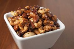 Mixed nuts with bacon