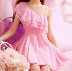 vestido con perlas Kawaii Fashion, Cute Fashion, Girl Fashion, Korean Fashion Dress, Fashion Dresses, Japanese Fashion, Kawaii Dress, Kawaii Clothes, Girly Outfits