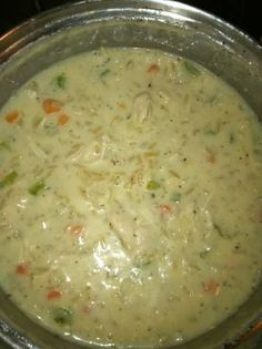 HealthiER Creamy Chicken & Wild Rice Soup! :)