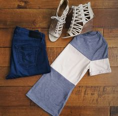 """18 Likes, 1 Comments - Trend Traveler Boutique (@trend_traveler_boutique) on Instagram: """"You can't go wrong with this color block tee! We are loving faux suede for spring!…"""""""