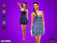 Bella Dress at NiteSkky Sims via Sims 4 Updates Check more at http://sims4updates.net/clothing/bella-dress-at-niteskky-sims/