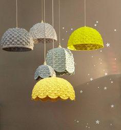 MATIN LUMINEUX: Abat-jour crochet: part 1                                                                                                                                                                                 Plus