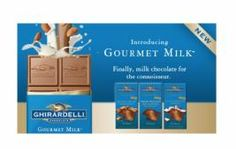 Ghirardelli has introduced a new line of chocolate delivering an epicurean milk chocolate experience--Gourmet MilkTM chocolate. Finally, milk chocolate for the connoisseur.