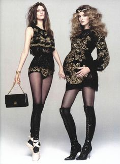 Maternity has never looked so good...dolce-gabbana-fw-2013-on-CR-fashion-book-debut-issue