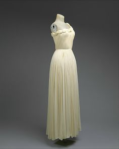 Madame Grès (Alix Barton) (French, 1903–1993). Dress, Evening. 1958, French. The Metropolitan Museum of Art, New York. Gift of Mrs. Leon L. Roos, 1973 (1973.104.2a, b)