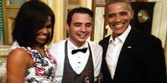 Michelle y Barack Obama con camarero sirvio cena Reinier Mely Maldonado en La Habana