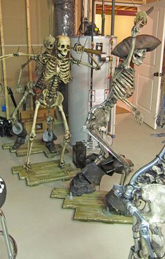 Would be fun if we have a Pirate themed area.  Posable skeletons dressed as pirates.  (Follow link to buy skeletons)