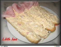 Pikantní vajíčková pomazánka Ham, Vitamins, Food And Drink, Appetizers, Healthy Recipes, Healthy Food, Bread, Cheese, Cooking